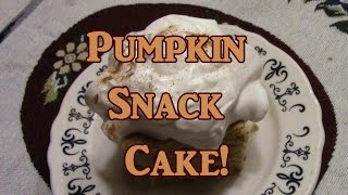 Download Fast Pumpkin Snack Cake Video
