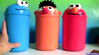 Download Cookie Monster, Elmo, Oscar Surprises Toys Video
