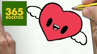 Download COMO DIBUJAR CORAZON KAWAII PASO A PASO - Dibujos kawaii faciles - How to draw a heart Video