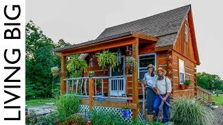 Download True Off-Grid Homesteading in A Pioneer Style Cabin Video