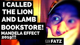 Download I called the Lion and Lamb Bookstore and this is what they said! - Mandela Effect 2019 Video