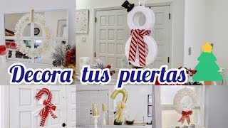 Download IDEAS PARA DECORAR PUERTAS NAVIDEÑAS // bastónes, coronas, muñeco de nieve Video