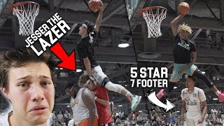 Download HIGHSCOOLER JUMPS OVER JESSER THE LAZER in Ball is Life DUNK CONTEST! Video