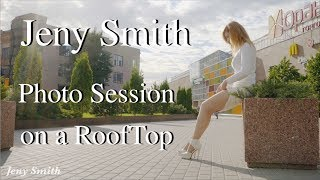 Download Going to Photo Session. Beautiful Moscow from roof top Video