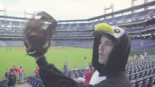 Download Snagging an Andrew McCutchen homer (in a penguin onesie) at Citizens Bank Park Video