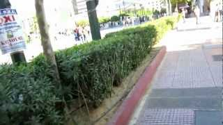 Download walking by the University of Athens in Athens, Greece Video