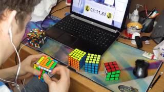 Download 2x2 - 7x7 Rubik's Cube World Record : 6:23.81 Video