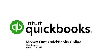 Download Money Out QuickBooks Online Webinar with Alee Cochrane Video