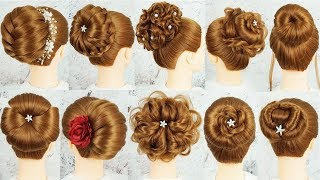 Download Top 10 New Bun Hairstyle With Using Clutcher - Bridal Hairstyles | Cute Hairstyles For Wedding Party Video