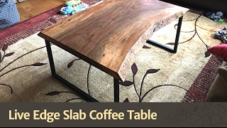 Download Live Edge Slab Coffee Table Video