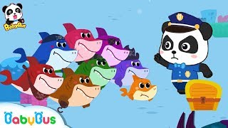 Download Baby Shark Vs Baby Panda Policeman | Number Song,Learn Colors | Kids Safety Tips | BabyBus Song Video