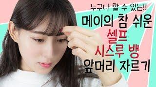 Download Eng ] 메이의 참 쉬운 셀프 시스루 뱅 앞머리 자르기 / May's so easy self-cut bang hair tutorial Video