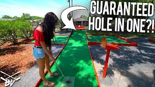 Download HAVE YOU EVER SEEN A MINI GOLF COURSE DO THIS?! - GUARANTEED HOLE IN ONE? Video