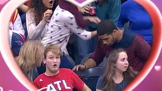 Download Fan DROPS Ring During Atlanta Hawks Kiss Cam Marriage Proposal - But Was it Fake? Video