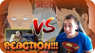 Download HE PUNCHED HIS HEAD OFF| Superman VS Saitama Arcade Mode REACTION!! Video
