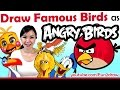 Download Artist Draw Movie + Game Birds as ANGRY BIRDS! | Drawing Challenge! | Mei Yu Video