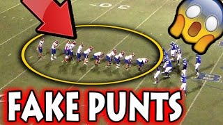 Download Greatest Fake Punts in Football History Video