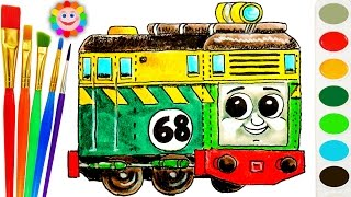 Download Thomas And Friends Coloring Page ♦ How to Draw Diesel Philip ♦ Learn Colors Video For Kids Video