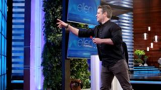 Download Matt Damon Shows Off His Sharp Dart Skills Video