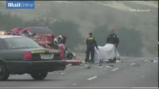 Download Horror as family of four among six killed in 'drunk driver wrong-way pileup' on California highway Video