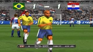 Download Winning Eleven 2002 World Cup รอบ 4 ทีม Brazil vs Croatia PS1 Video