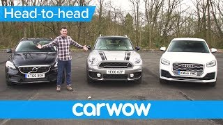 Download Audi Q2 vs MINI Countryman vs Volvo V40 XC - which is the best small SUV? | Head2Head Video