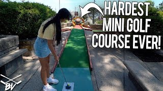 Download I HAVE NEVER SEEN A CRAZY MINI GOLF COURSE LIKE THIS! - INSANE HOLES AND SHOTS! Video
