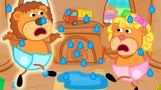 Download Lion Family Flood in the Sandy Castle Cartoon For Kids Video