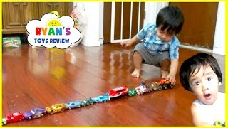 Download Memories before YouTube Flashback! Kid playing with toy cars and trains! Family Fun Activities Video