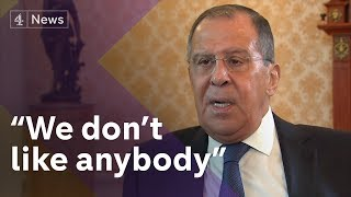 Download Exclusive: Sergey Lavrov, Russia's Foreign Minister, on Skripals, Trump 'kompromat' claims and OPCW Video
