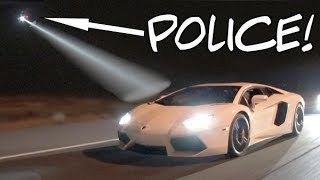 Download Lambo Caught by Police Chopper While STREET RACING! Video