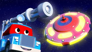 Download Car Patrol - Super Truck is a Telescope Truck and Discovers a UFO - Car City ! Trucks Cartoons Video
