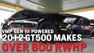 Download VMP Performance | Stock 2012 Shelby GT500 Blasts Out 800 HP With VMP Gen3 TVS Blower Video