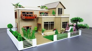 Download How to Make a Mansion House From Cardboard & Bamboo Stick With Fairy Garden - Dream house - Model 02 Video