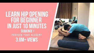 Download Yoga For Beginner | Hip Opening | Sequence 1| Jai Yoga | master praveen Video