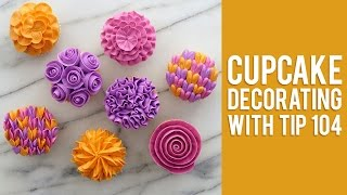 Download How to Decorate Buttercream Flower Cupcakes Video