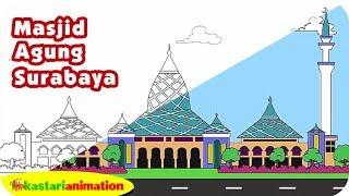 Mewarnai Masjid Agung Ternate Bersama Diva Kastari Animation