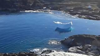 Download Iceberg flips over in Greenland Video