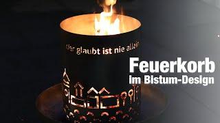 Download Feuerkorb im Bistum-Passau-Design Video