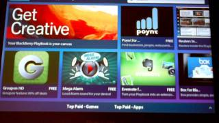 Download Blackberry Playbook 2.0 Appworld Review : Running Android Apps Video