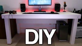 Download Building a Custom PC Desk! (No Visible Cables) Video