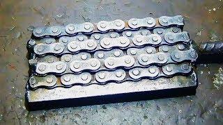 Download Дамаск из цепи полный процесс (ножи) Video
