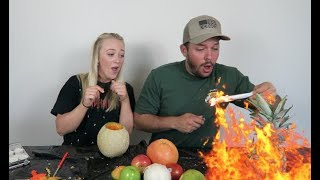 Download CARVING THINGS THAT AREN'T PUMPKINS! Fail! (W/ Heath Hussar) Video