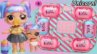 Download Unicorn Slime Custom LOL Surprise Dolls #Hairgoals makeover Series 5 Lil Sister Family Video