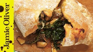 Download Easy Mushroom & Spinach Pizza Calzone Recipe   Jamie Oliver Video