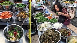Download Eating Bibimbap at Gwangjang Market & Other Korean Street Food Video