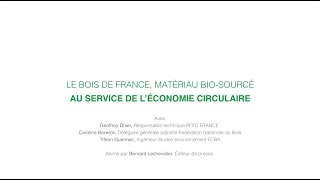 Download Colloque : Bois, matériau d'avenir - Le bois de France, matériau bio-sourcé Video