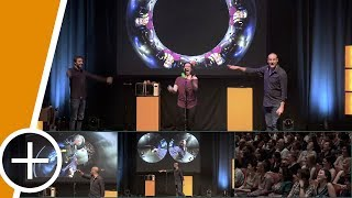 Download Stand-up comedy routine using a live spherical camera Video