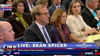 Download SEAN SPICER Corrects White House Reporter Over President Trump Inauguration Attendance Video