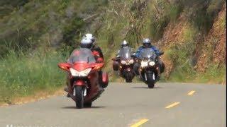 Download 2009 Sport-Touring Motorcycle Shootout - BMW vs Honda vs Kawasaki vs Yamaha Video